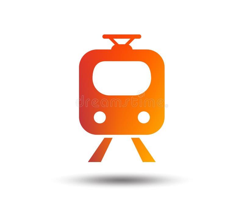 Subway Sign Icon Train Underground Symbol Stock Vector