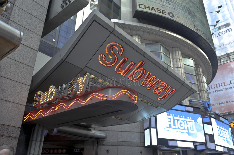 Download Subway Sign In Times Square Editorial Photo - Image: 25963001