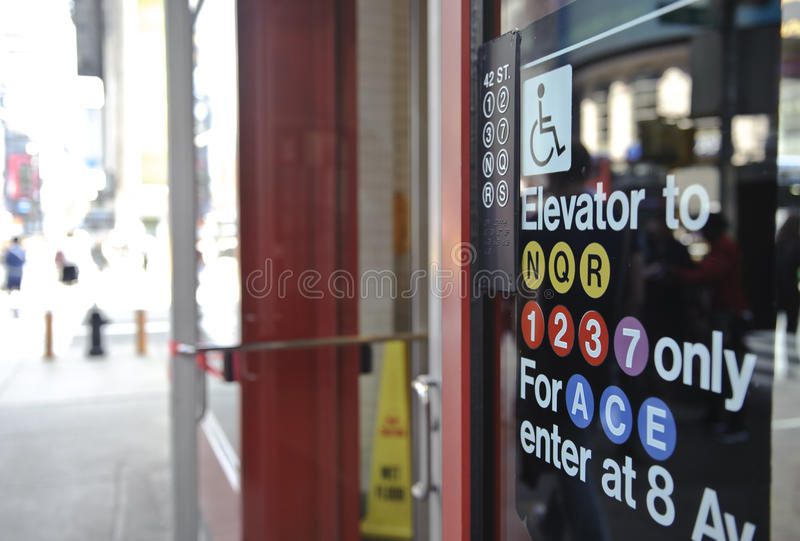 Download Subway Sign In Times Square Editorial Photography - Image: 25963007