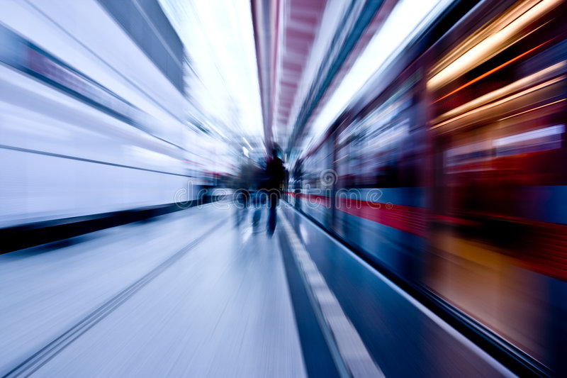 Subway speeding by. The subway speeding by underground royalty free stock photography