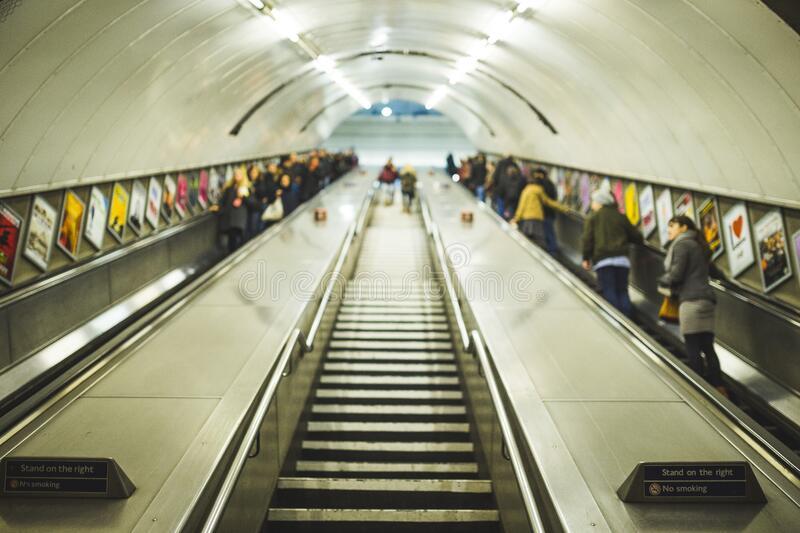 Subway stairs royalty free stock photography