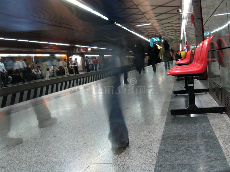 Download Subway station stock photo. Image of light, floor, passengers - 5992470