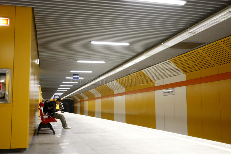 Subway station in Bucharest royalty free stock image