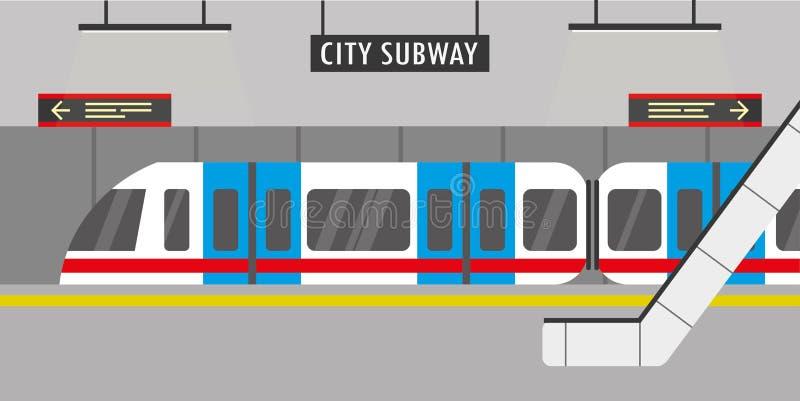 Subway station royalty free illustration