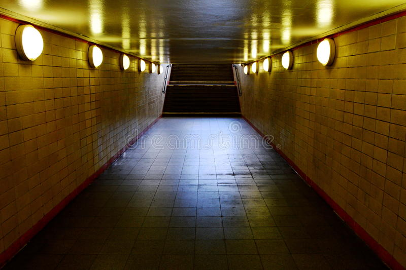 Subway Station Hallway and staircase royalty free stock photos
