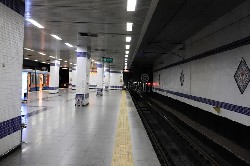 Subway station in Istanbul royalty free stock photos