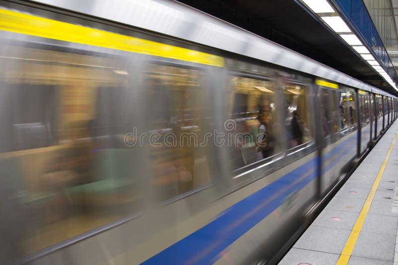 Subway Train stock photography