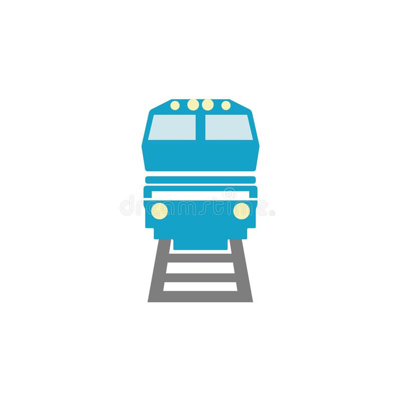 subway train icon. Logo element illustration. subway train symbol design. colored collection. subway train concept. Can be used in royalty free illustration