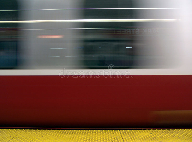 Download Subway Train In Motion Stock Photo - Image: 1082140