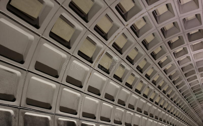 Subway tunnel. Washington DC Metro subway tunnel stock images