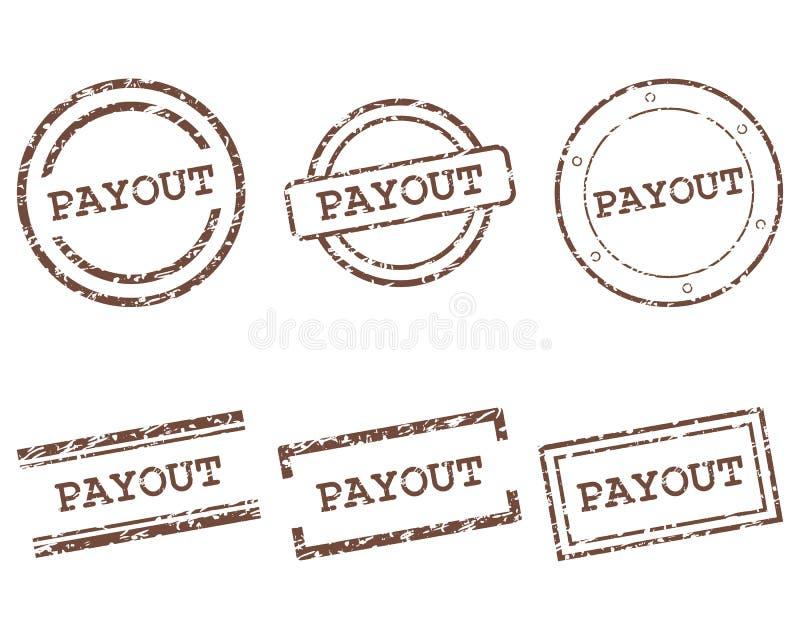 Subwencja znaczki royalty ilustracja