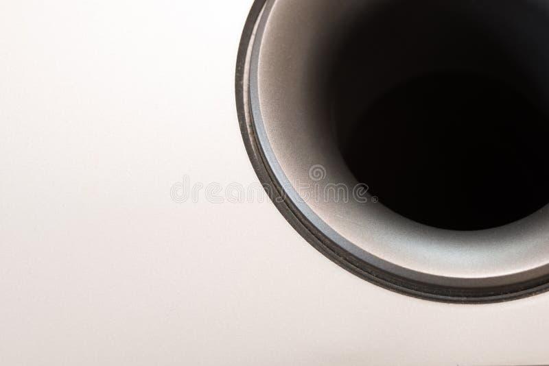 Subwoofer szczegół z widokiem Wśrodku drymby zdjęcie royalty free