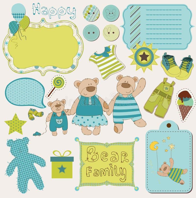 Sucata do bebê da família do urso ilustração stock