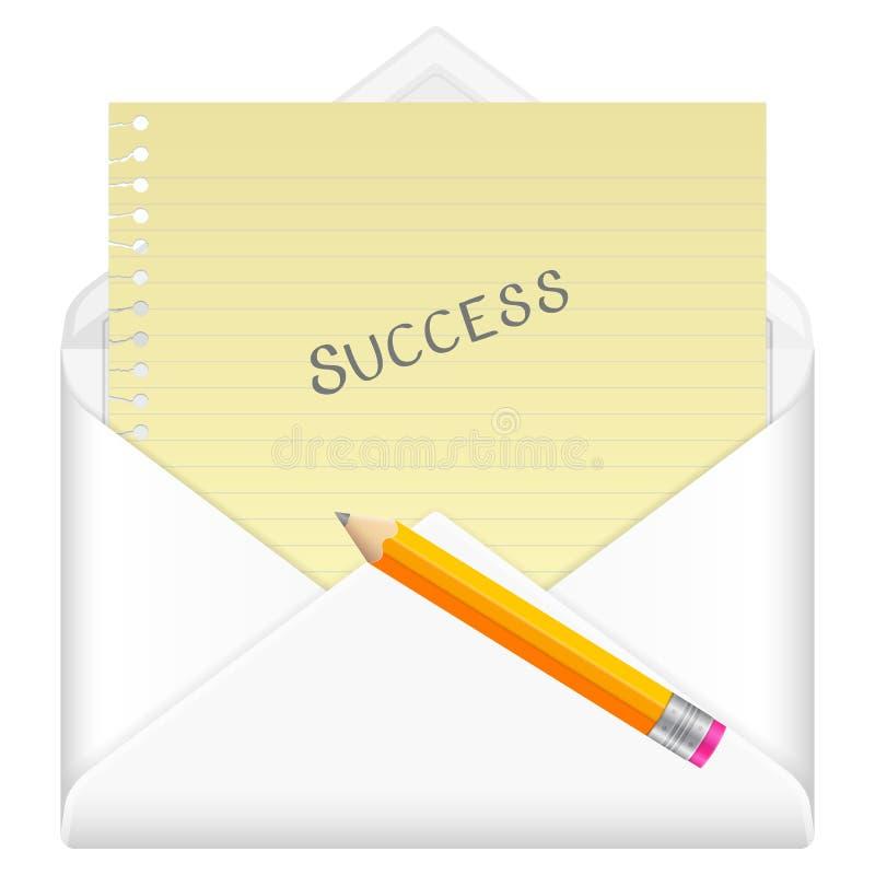 Succès d'enveloppe illustration de vecteur