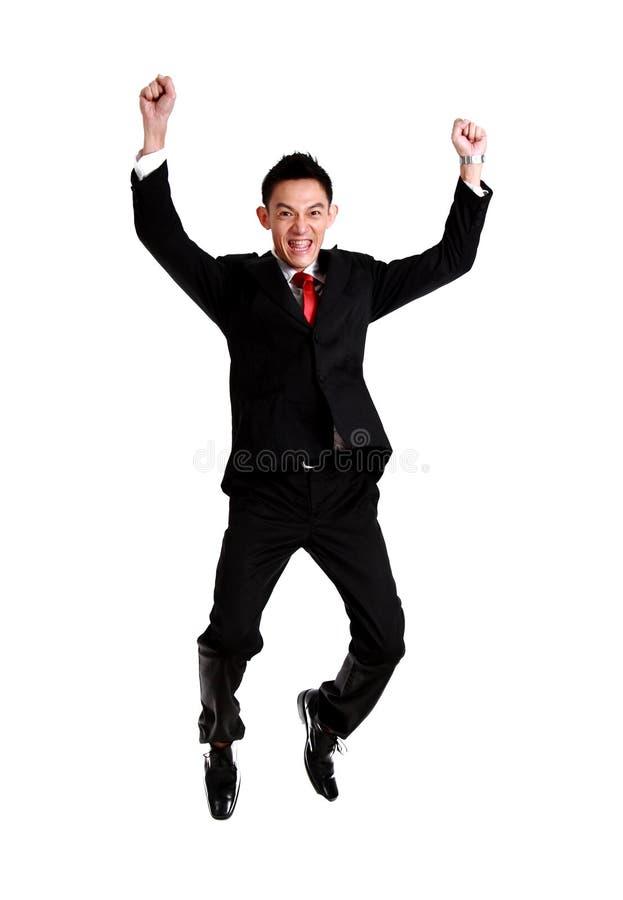 Download Succès De Célébration D'homme D'affaires, Sauter D'homme D'affaires D'isolement En Fonction Photo stock - Image du saut, heureux: 45358378