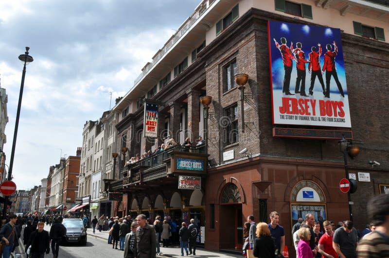 Succès de garçons du Jersey dans le West End, Londres images stock