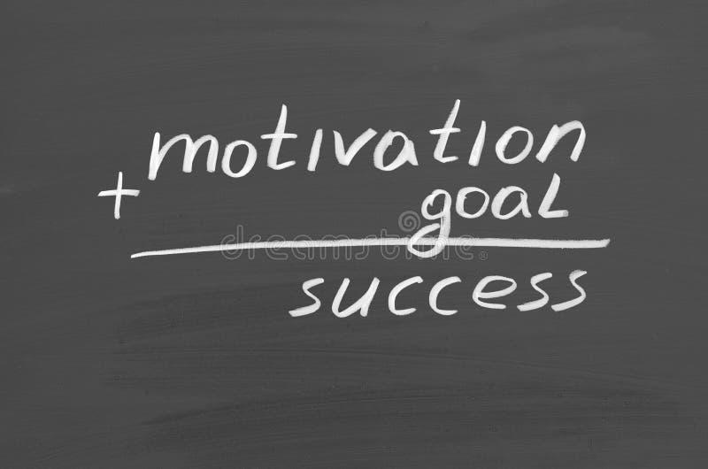 Succès de motivation de but Texte sur le tableau photo stock