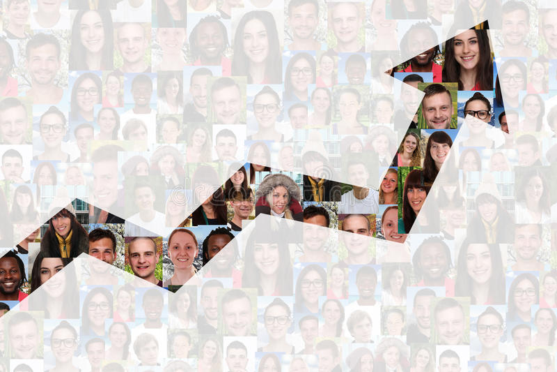 Succès ou stratégie réussie de croissance dans les affaires avec des personnes photos stock