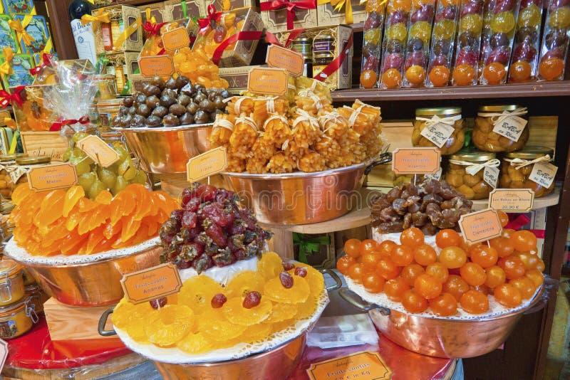 Succade shop. In Les Baux de Provence, France stock photos
