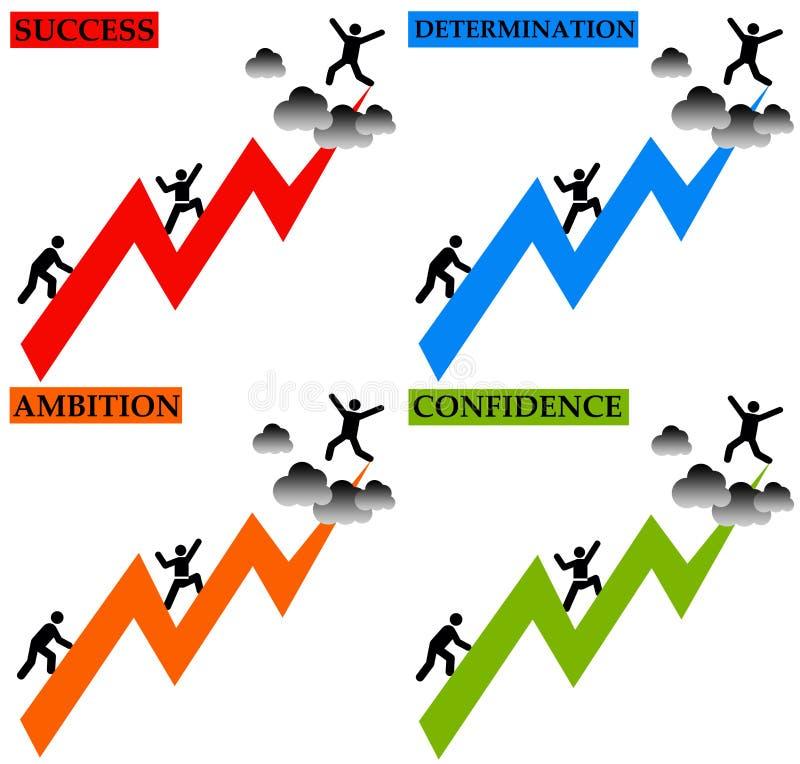 Succes stock illustratie