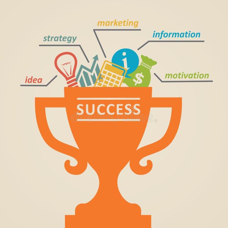 Download Succes Concept d'affaires illustration de vecteur. Illustration du dollar - 45368111