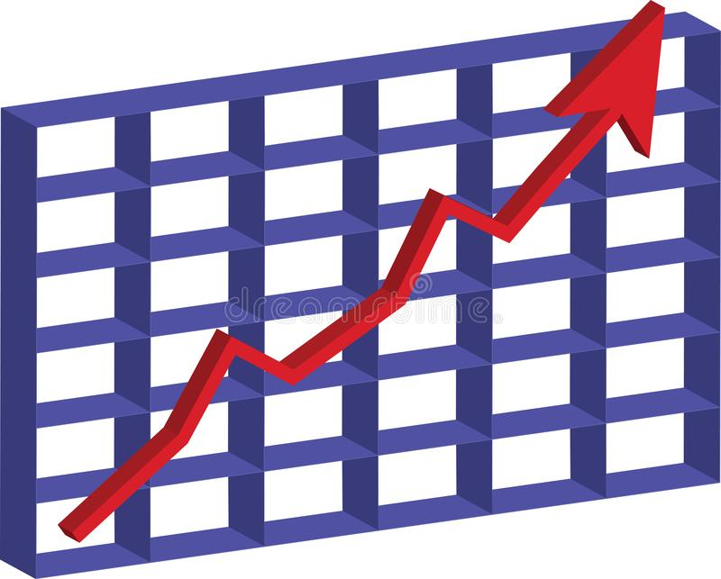 Succes in de effectenbeurs stock illustratie