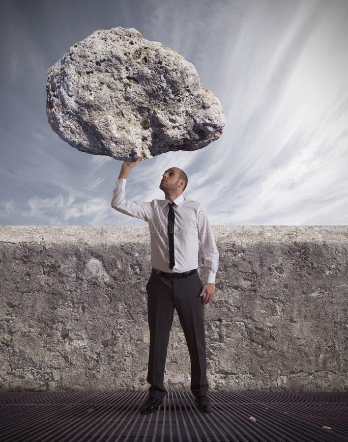 Succes en bepaling in harde zaken stock afbeelding