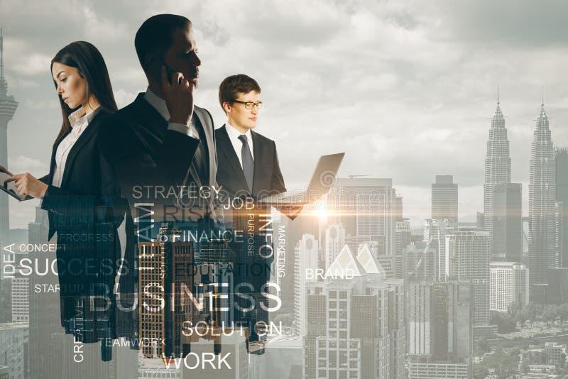 Succes en communicatie concept royalty-vrije stock afbeeldingen