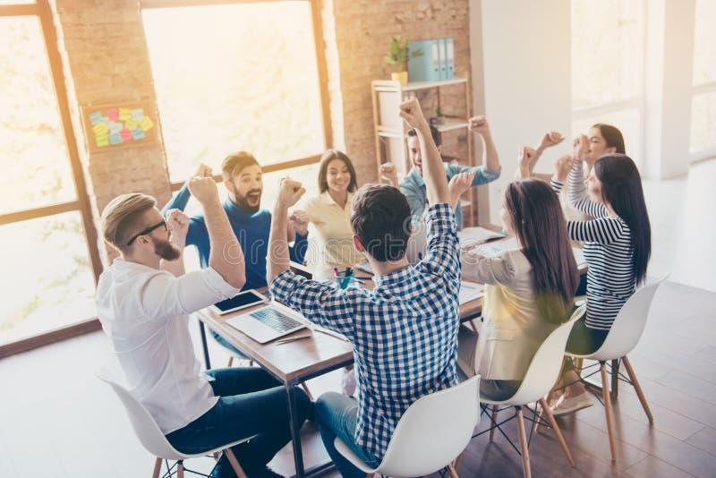 Succes en het concept van het teamwerk Team van partners met Ra royalty-vrije stock foto