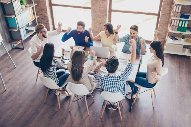 Succes en het concept van het teamwerk Voltooi van team van zaken partne stock fotografie