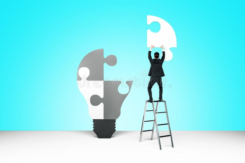 Succes en oplossingsconcept royalty-vrije stock afbeelding