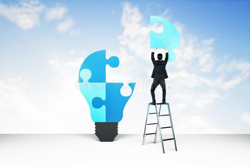 Succes en oplossingsconcept stock afbeelding