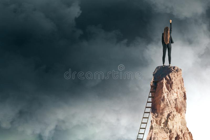 Succes en risicoconcept stock afbeeldingen