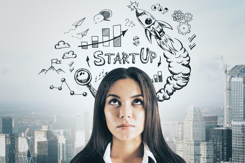 Succes en startconcept stock afbeelding