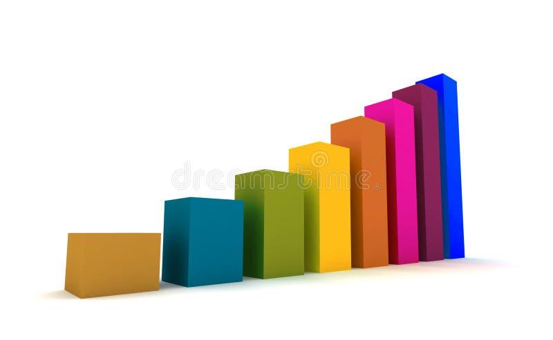 Succes - estadísticas 3d stock de ilustración