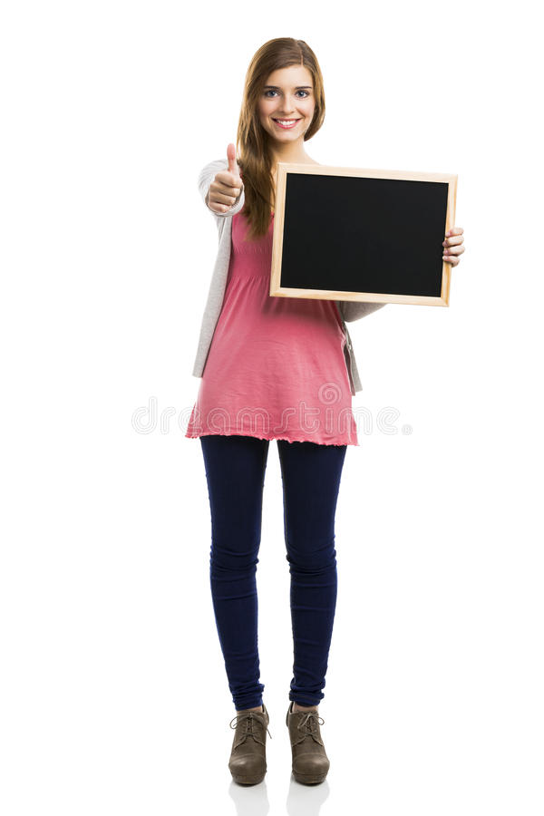 Succes girl royalty free stock images