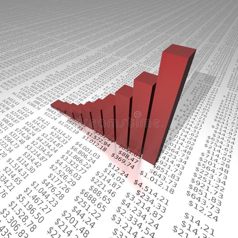 succes grafiek op de achtergrond van het dollarrapport stock illustratie
