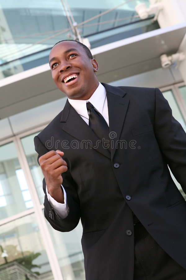 Succes het bedrijfs van de Mens stock afbeelding
