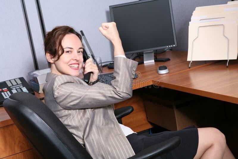 Succes het bedrijfs van de Vrouw royalty-vrije stock foto's