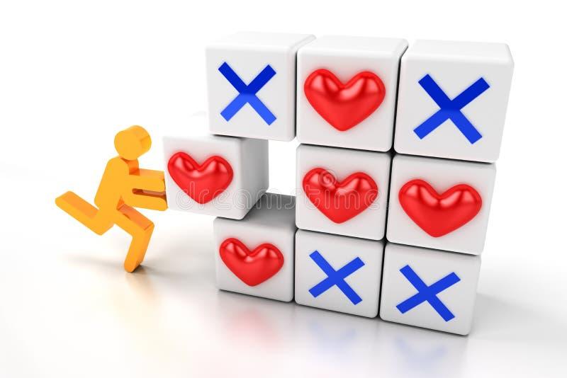 Succes in liefde stock illustratie