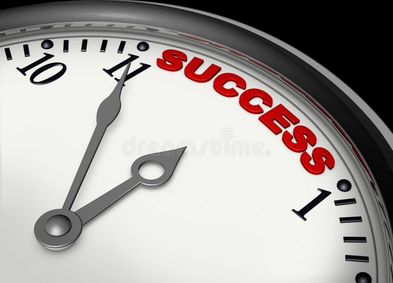 Succes op tijd vector illustratie