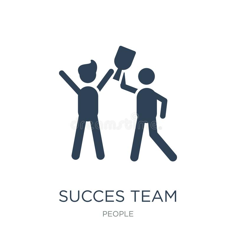 succes team icon in trendy design style. succes team icon isolated on white background. succes team vector icon simple and modern stock illustration