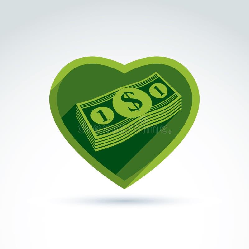 Succes van het liefdegeld, en, rijkdom hebzucht die, die het deponeren crediteren en stock illustratie