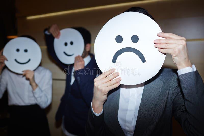 Succes versus Mislukkingsconcept in Zaken royalty-vrije stock fotografie