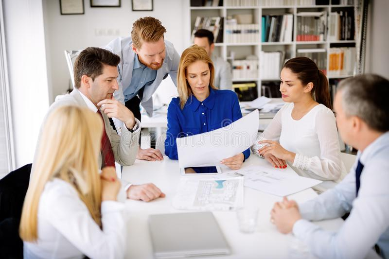 Succesful businesswoman CEO of company royalty free stock image