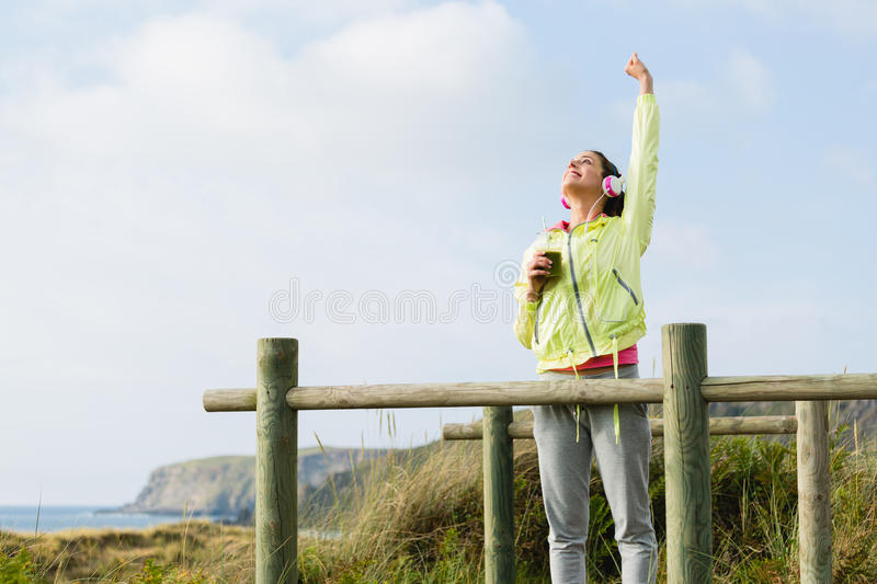 Succesful fitness and sport lifestyle royalty free stock photos