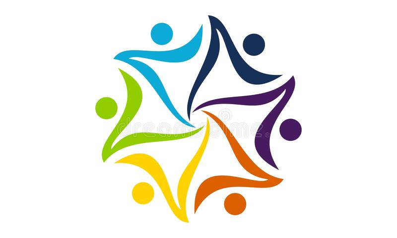 Succesgroepswerk Logo Design Template royalty-vrije illustratie