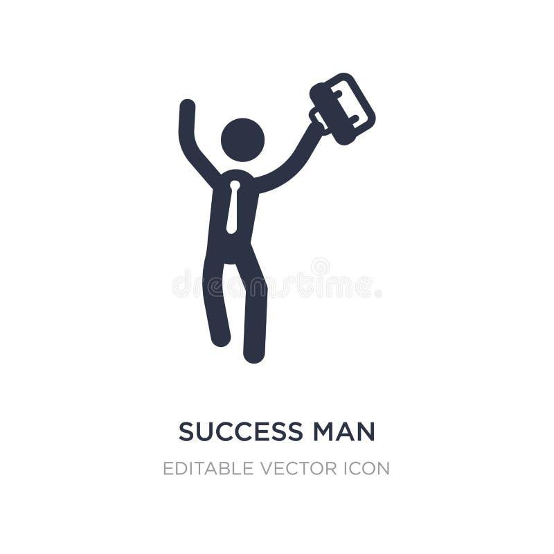 succesmens met kofferpictogram op witte achtergrond Eenvoudige elementenillustratie van Bedrijfsconcept vector illustratie