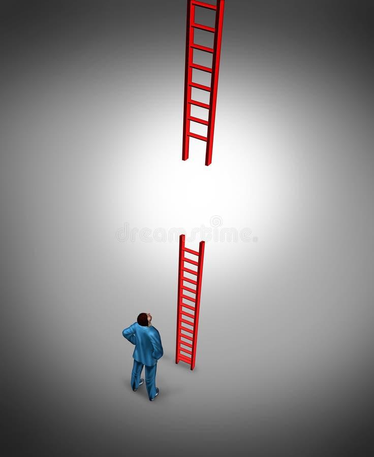 Succesproblemen stock illustratie