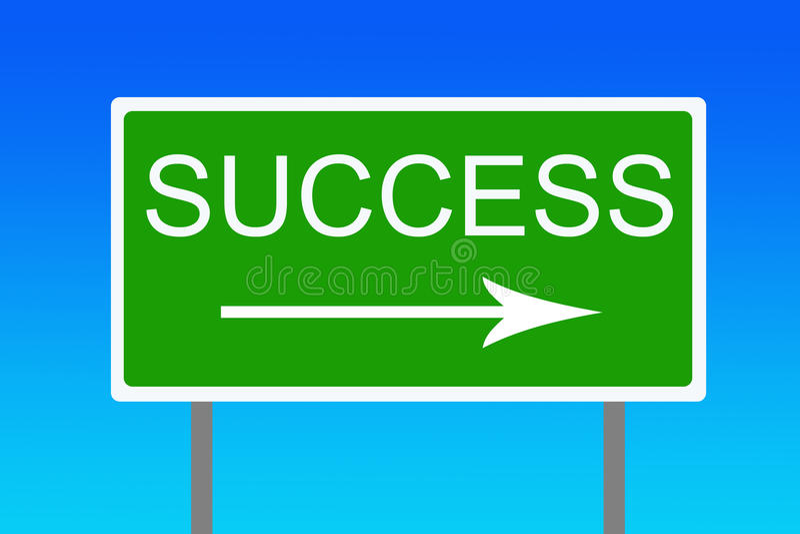 Success royalty free illustration